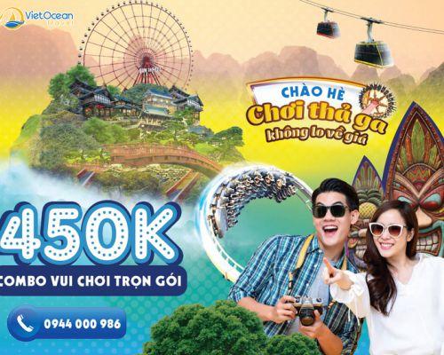 COMBO vui chơi SunWorld Hạ Long Park vui nhộn chỉ còn 450K/người lớn
